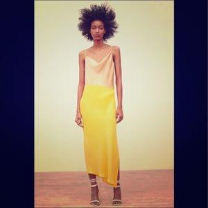 Zara Color Block Satin Dress